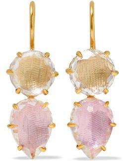 Caterina Gold-dipped Quartz Earrings