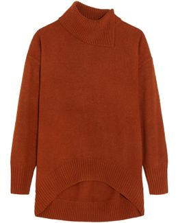 Oversized Wool Turtleneck Sweater