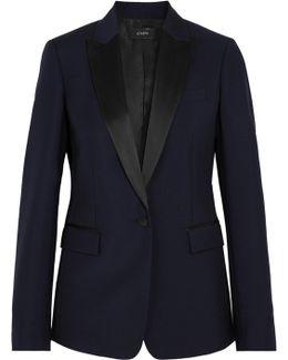 Hampstead Satin-trimmed Wool-blend Tuxedo Blazer