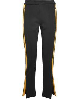 Scuba Striped Stretch-neoprene Track Pants