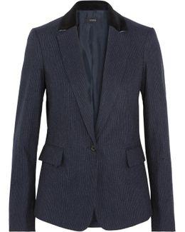 Prisca Pinstriped Wool-blend Blazer