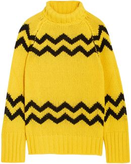 Intarsia Wool Turtleneck Sweater