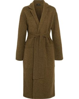 Knitted Merino Wool Robe Coat