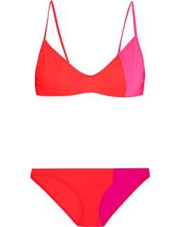 Elsa And Enel Color-block Triangle Bikini