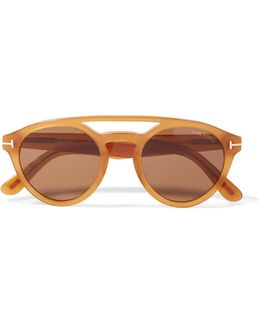 Clint Round-frame Acetate Sunglasses