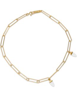 Gold-tone Bone Necklace