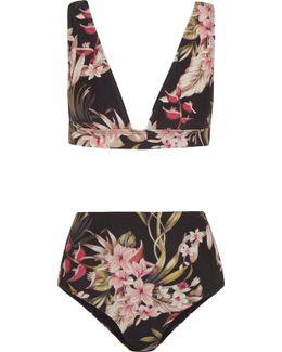 Curacao Floral-print Bikini