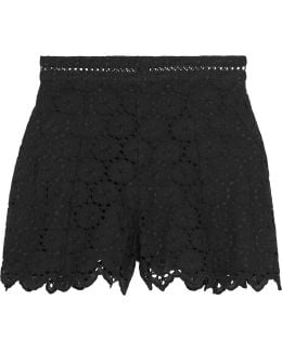 Divinity Wheel Broderie Anglaise Cotton Shorts