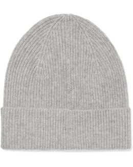 Chilton Ribbed Cashmere Beanie