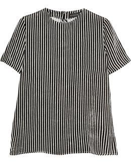Striped Velvet Top