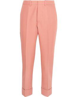 Gabardine Straight-leg Pants