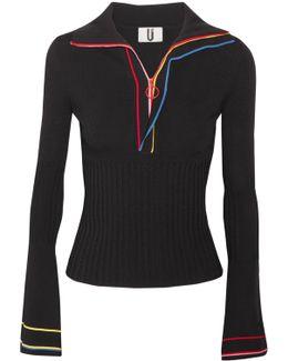 Striped Stretch-knit Top