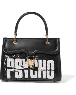 Psycho Embellished Leather Tote