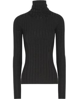 Corina Ribbed Merino Wool-blend Turtleneck Sweater