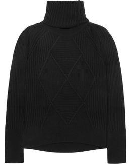 Convertible Wool Turtleneck Sweater