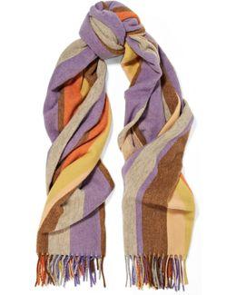 Canada Striped Wool Scarf