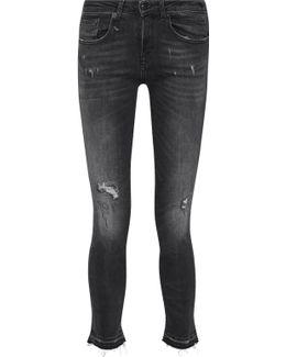 Alison Distressed Low-rise Skinny Jeans
