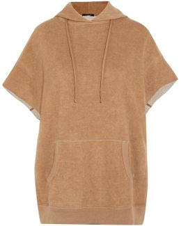 Cotton And Camel-blend Hooded Top