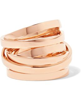 Technical Berbère 18-karat Rose Gold Ring