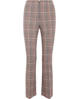 Checked Wool-blend Slim-leg Pants