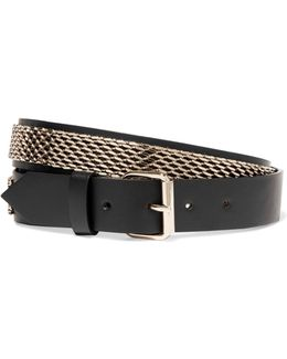 Gold-plated Leather Belt