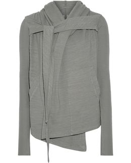 Hooded Cotton-jersey Cardigan