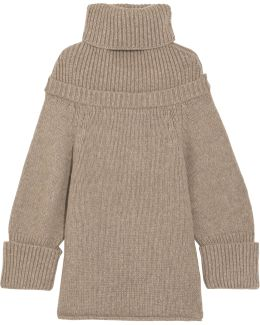 Wool-blend Turtleneck Sweater