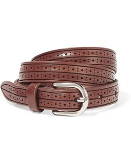 Kaylee Perforated Leather Belt