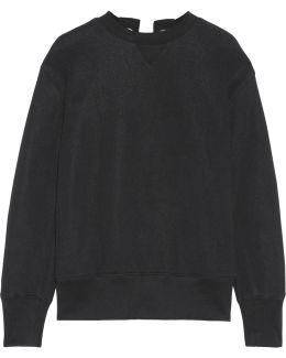 Lace-up Cotton-blend Jersey Sweatshirt