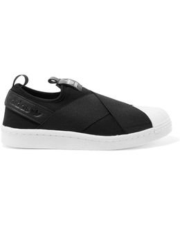 Superstar Leather-trimmed Neoprene Slip-on Sneakers