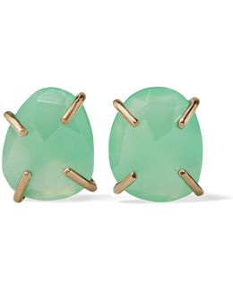 14-karat Gold Chrysoprase Earrings