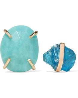 14-karat Gold, Apatite And Turquoise Earrings