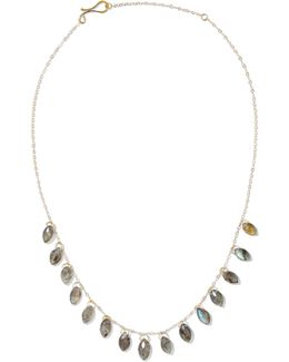 14-karat Gold Labradorite Necklace