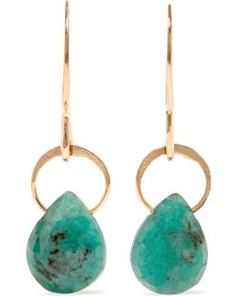 14-karat Gold Emerald Earrings