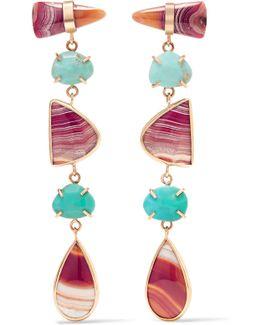 14-karat Gold Multi-stone Earrings