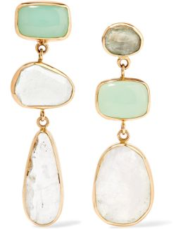 14-karat Gold, Sterling Silver And Multi-stone Earrings
