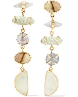 14-karat Gold And Sterling Silver Multi-stone Earrings