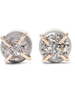 14-karat Gold Druzy Earrings