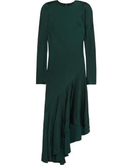 Kuiper Asymmetric Satin Midi Dress