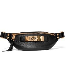 Embellished Textured-leather Belt Bag
