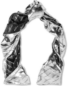 Metallic Silk-blend Jacquard Scarf