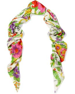 Grand Floral-print Modal And Silk-blend Scarf
