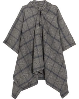 Plaid Cashmere And Wool-blend Poncho