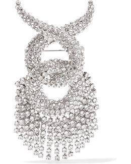 Palladium-tone Swarovski Crystal Brooch