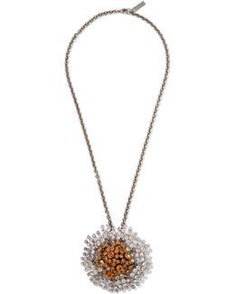Convertible Palladium-tone Crystal Necklace