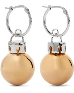 December Gold And Silver-tone Earrings