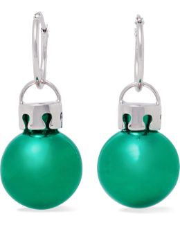 December Ball Silver-tone And Resin Earrings