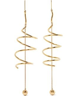 Solitude Gold-plated Earrings
