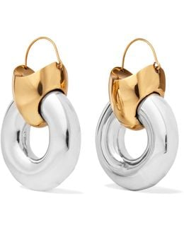 Hush Gold-plated And Silver-tone Earrings