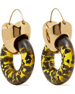 Hush Gold-plated Resin Earrings